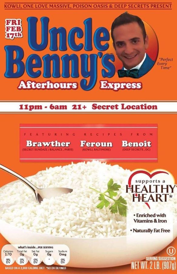 Uncle Benny's After Hours Express with Brawther, Feroun & Benoit at Secret Location