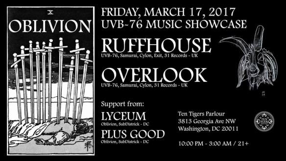 Oblivion with Ruffhouse, Overlook at Ten Tigers Parlour