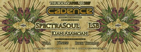 Cadence Presents: SpectraSoul, LSB, Kian Asamoah with Yoga, Jöness & Rich Thomas at Flash