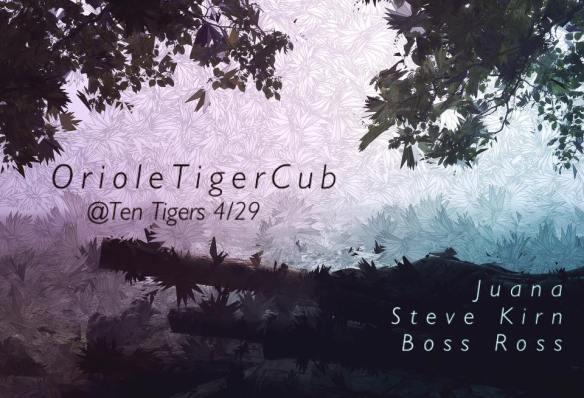 OrioleTigerCub with Juana, Boss Ross & Steve Kirn at Ten Tigers Parlour