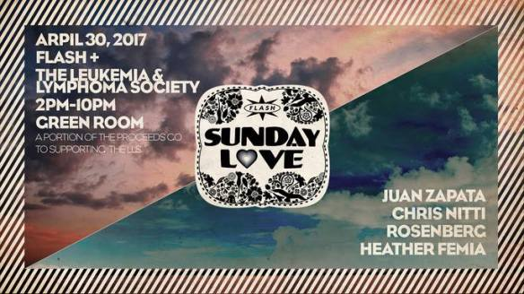 Sunday Love: LLS Fundraiser with Juan Zapata, Chris Nitti, Rosenburg & Heather Femia at Flash