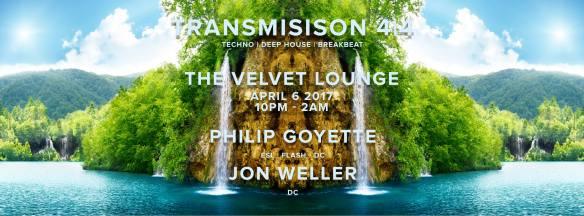 Transmission 4|4 w/ Philip Goyette & Jon Weller at Velvet Lounge