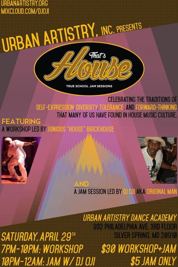 That's House: True School Workshop and Jam Session with DJ Oji at Urban Artistry