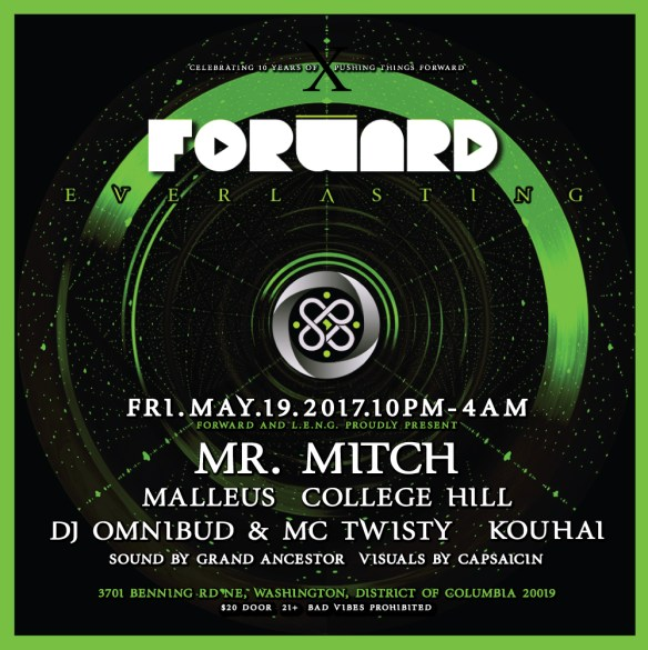 LENG & Forward present Mr. Mitch, Malleus, College Hill, DJ Omnibud & MC Twisty, Kouhai with Visuals by [capsaicin] at The DC Eagle