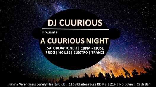 A Cuurious Night with DJ Cuurious at Jimmy Valentine's Lonely Hearts Club