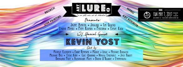 Art Lure Presents An Art, Music, and Brunch Affair with Kevin Yost with Jaimé Amaya, Jandro, Persian, Pepe Rivera, Sarah Myers, Steve Kirn & Timothy Glusko at Old Engine 12