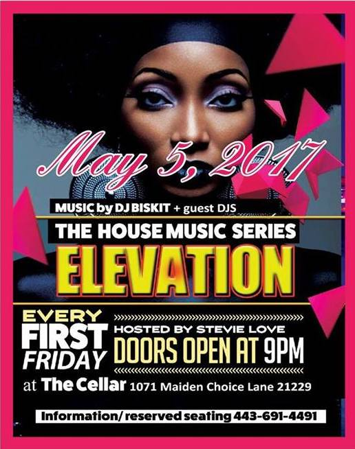 Elevation The House Music Series with DJ Biskit at The Cellar at Maiden Choice, Baltimore
