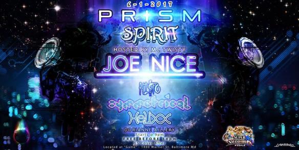 Spirit & PRISM Present: Joe Nice, Hi$to, Symmetrical, Helixx at Game, Baltimore