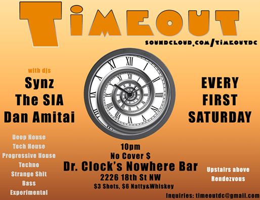 Timeout with Danjamamatai, Jeremy & Joe DJ'in at Dr Clock's Nowhere Bar