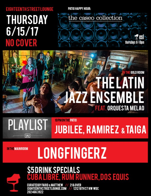 ESL Thursday with Longfingerz & Playlist with Jubilee, Ramirez & Taiga at Eighteenth Street Lounge