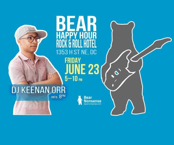 Bear Happy Hour with DJ Keenan Orr at Rock & Roll Hotel