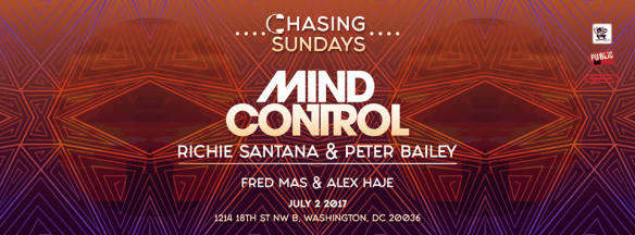 Chasing Sundays with Mind Control, Fred Das & Alex Have at Public Bar