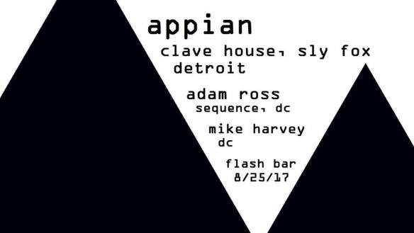 Transplants presents Appian, Adam Ross & Mike Harvey in the Flash Bar
