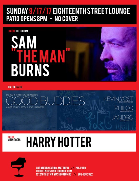 """ESL Sunday with Sam """"The Man"""" Burns, Harry Hotter & Good Buddies featuring Kevin Yost with Philco & Jandro at Eighteenth Street Lounge"""