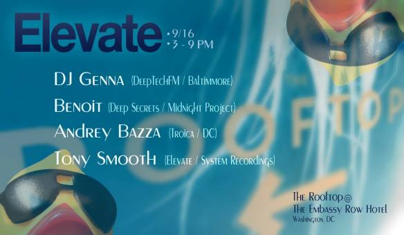 Elevate Rooftop Pool Party with DJ Genna, Benoit, Andrey Bazza & Tony Smooth at The Embassy Row Hotel