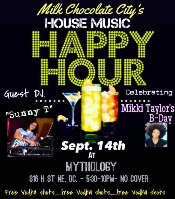 House Music Happy Hour with Sunny T at Mythology Restaurant & Lounge
