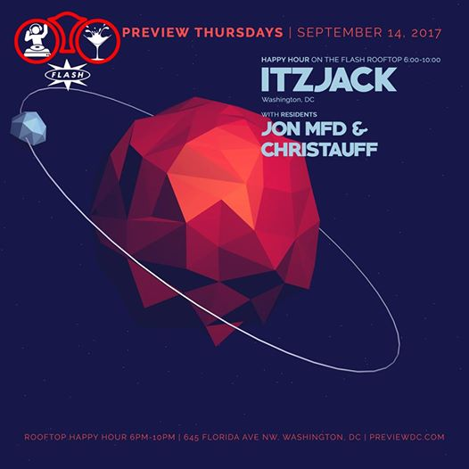 Preview Rooftop Happy Hour with Itzjack at Flash