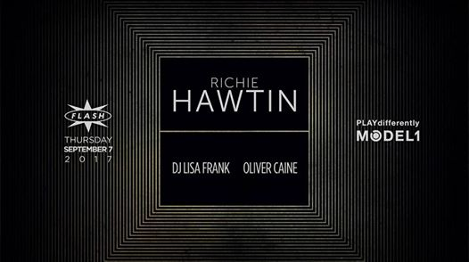 Richie Hawtin with Oliver Caine and DJ Lisa Frank at Flash