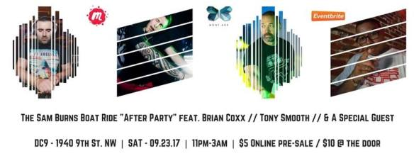 The Sam Burns Boat Ride After Party feat. Brian Coxx, Tony Smooth & DJ HouseHead at DC9 Nightclub