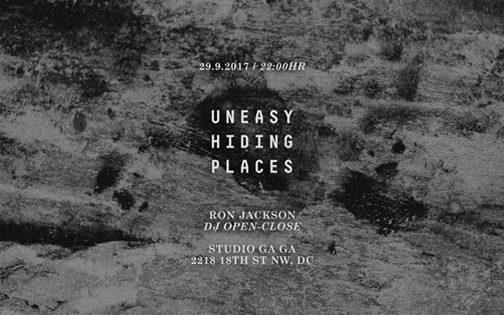 Uneasy Hiding Places with Ron Jackson at Studio Gaga