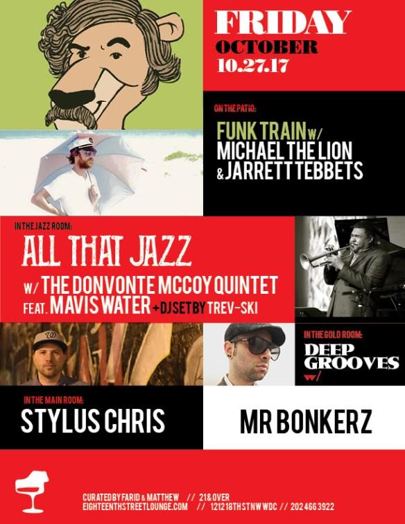 ESL Friday with Michael the Lion, Jarett Tebbets, Trev-ski, Stylus Chris & Mr Bonkerz at Eighteenth Street Lounge