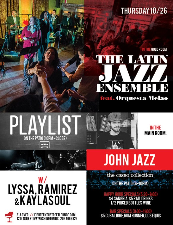 ESL Thursday with John Jazz & Playlist with Lyssa, Ramirez & Kaylasoul at Eighteenth Street Lounge