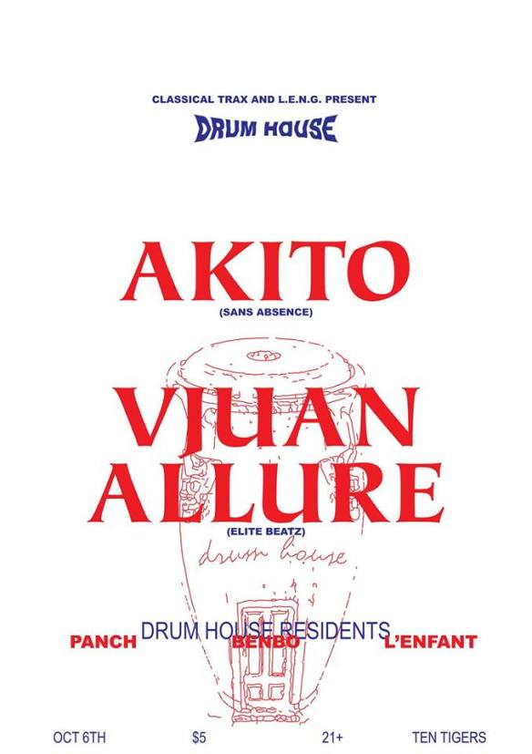 Classical Trax Drum House: Akito + Vjuan Allure at Ten Tigers Parlour