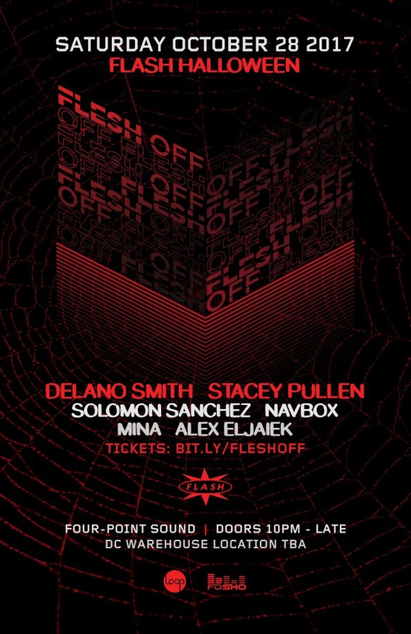 Flesh off with Stacey Pullen, Delano Smith, Navbox, Solomon Sanchez, Mina & Alex Eljaiek at Warehouse Location