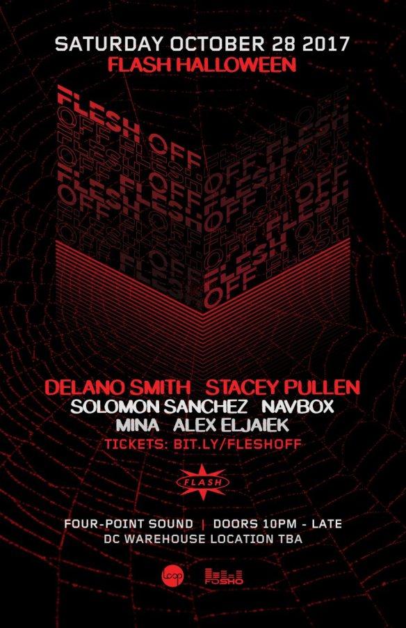 Flesh off with Stacey Pullen, Delano Smith, Navbox, Solomon Sanchez, Mina & Alex Eljaiek at Warehouse Location