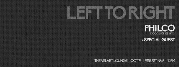Left To Right with Philco & Special Guest at Velvet Lounge