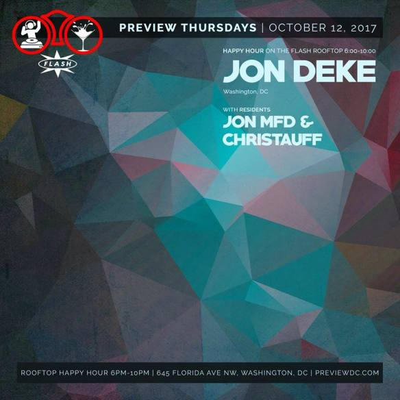 Preview Rooftop Happy Hour with Jon Deke at Flash