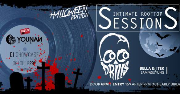 Younan Music presents Sintimate Rooftop Sessions Halloween Edition with Cocodrills, Bell & J Tek & Sami%Suyung at Public Bar