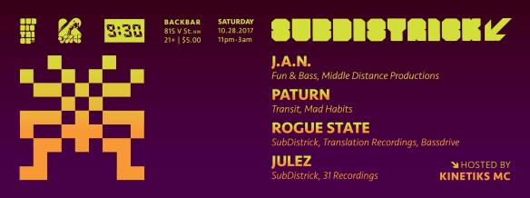 SubDistrick with J.A.N., Paturn, Rogue State & Julez at Backbar