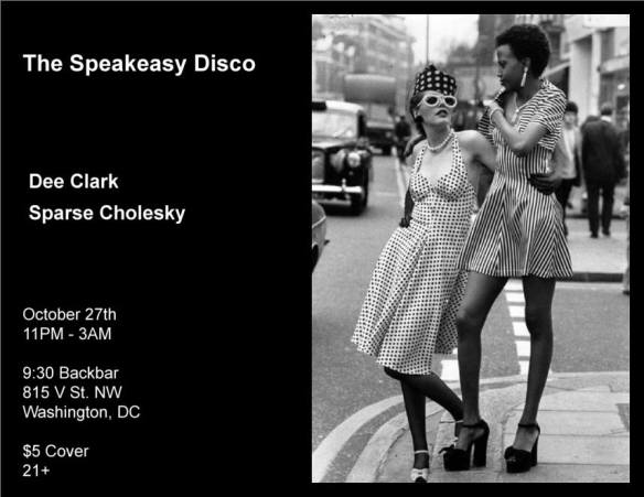 The Speakeasy Disco with Dee Clark & Sparse Cholesky at Backbar
