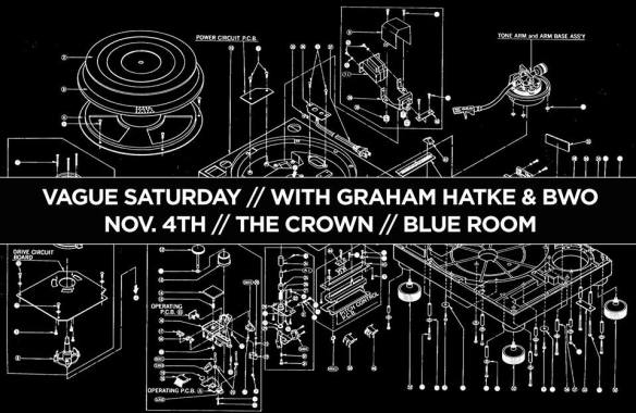 Vague Saturday with Graham Hatke & BWO at The Crown, Baltimore