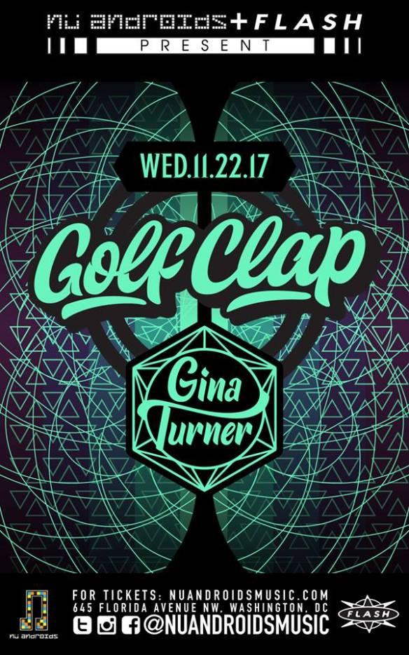 Thanksgiving Eve: Golf Clap, Gina Turner at Flash