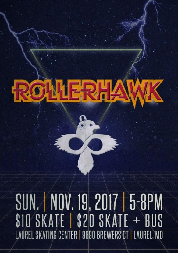 Rollerhawk with DJ Baronhawk at Laurel Skate Center