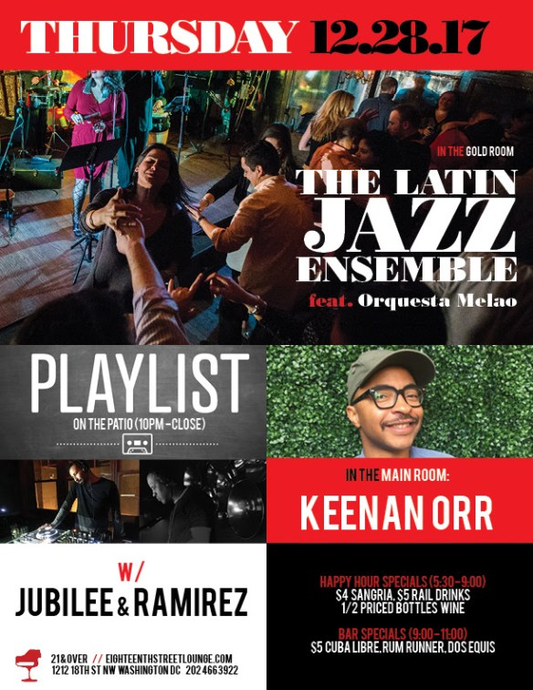 ESL Thursday with Keenan Orr & Playlist with Jubilee & Ramirez at Eighteenth Street Lounge