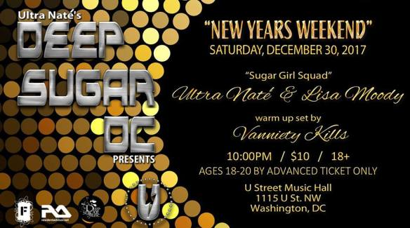 Deep Sugar DC New Year's Weekend with Ultra Naté, Lisa Moody & Special Guest Vanniety Kills at U Street Music Hall