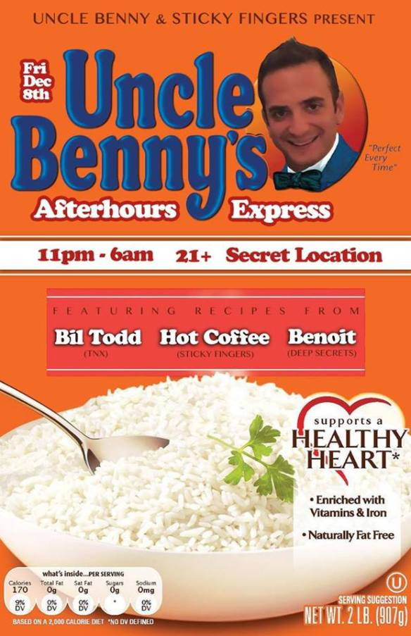 Uncle Benny's Afterhours Express with Bil Todd, Hot Coffee & Benoit at Secret Location