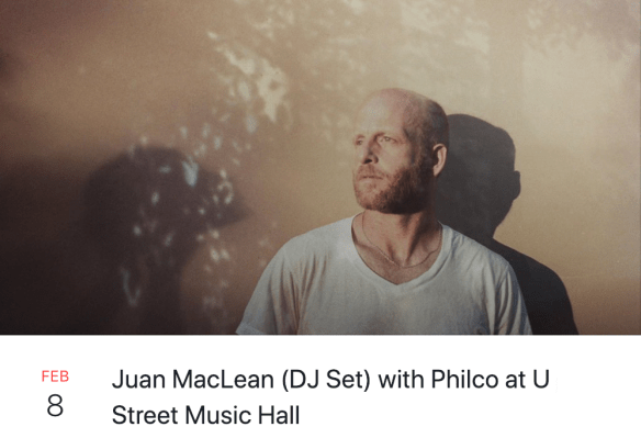 Juan MacLean at U Street Music Hall