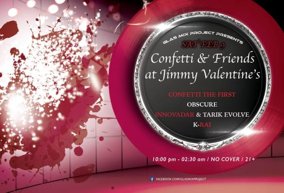 Confetti & Friends at Jimmy Valentines