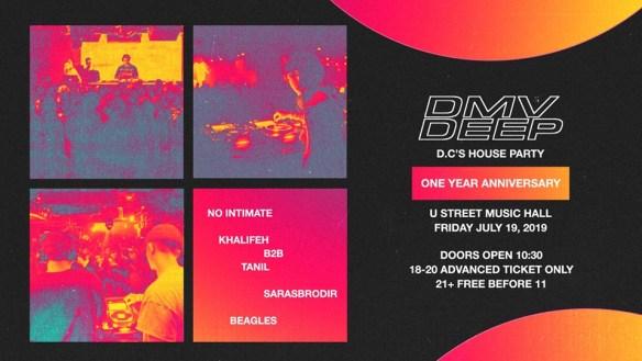 dmv deep 1 year anniversary at u street music hall