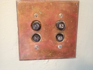 push buttons on old light switch in washington DC