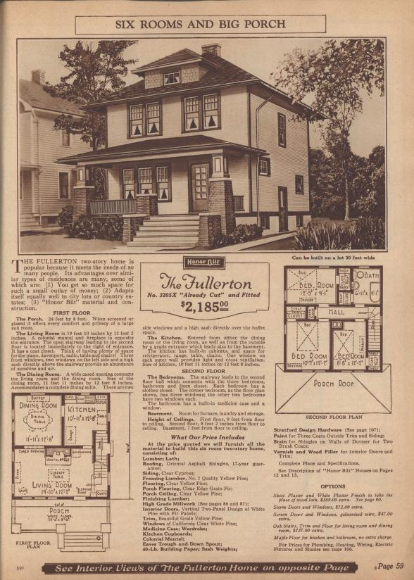 "The Sears ""Fullerton"" model as seen in the 1925 mail-order catalog. Image courtesy of archive.org"