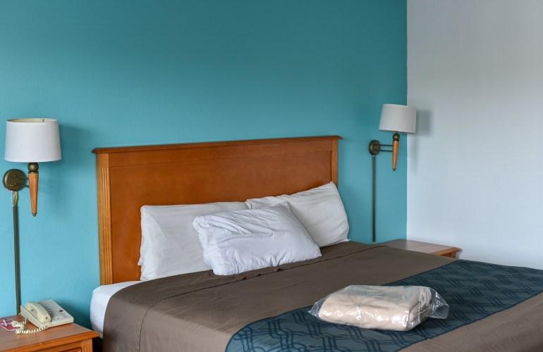 Kent motel room