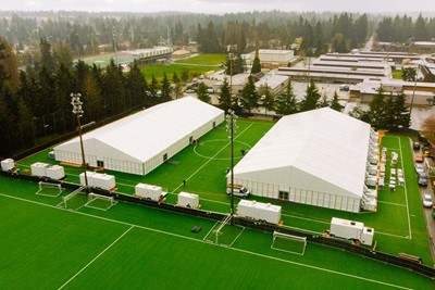 Shoreline Recovery Center Tents