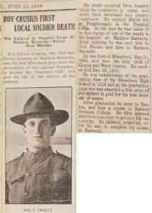 1918-05-18 Roy Crusius Obit
