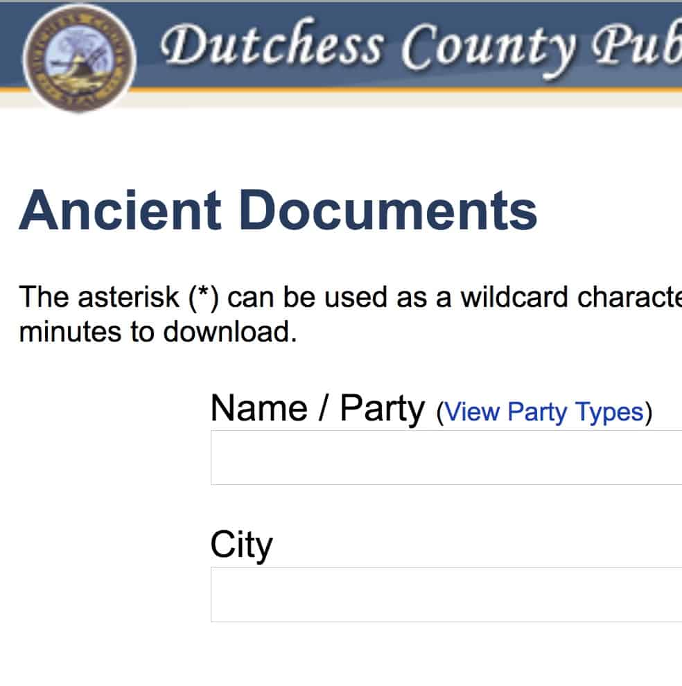 COUNTY CLERK ANCIENT DOCUMENTS SEARCH