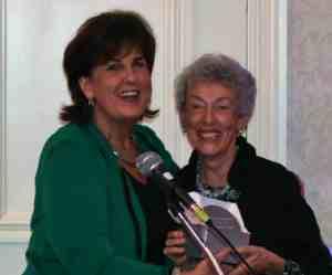 Linda Hubbard (right) with Denise Doring Van Buren.